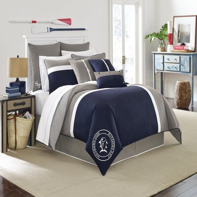 Starboard Reversible Comforter Set Size: Queen