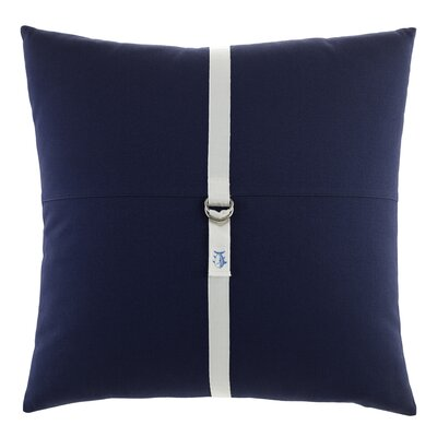 Starboard Cotton Throw Pillow Color: Navy