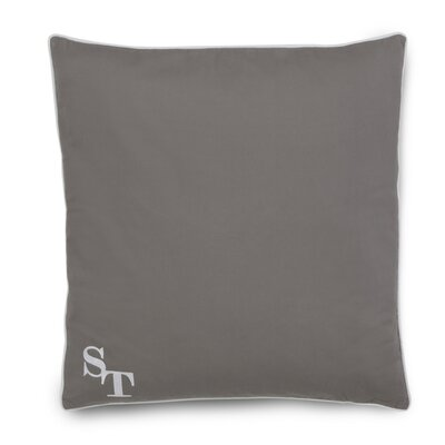 Starboard Cotton Throw Pillow Color: Gray
