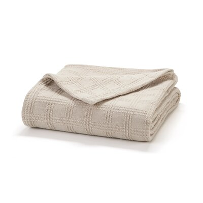 Classic Cotton Loom Woven Blanket Size: Twin, Color: Sand