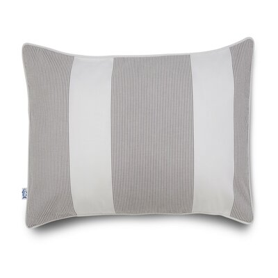 Breakwater Seersucker Cotton Throw Pillow Color: Grey