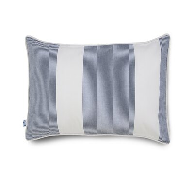Breakwater Seersucker Cotton Throw Pillow Color: Blue