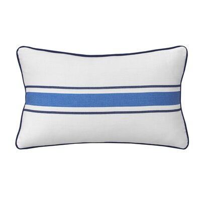 Dock Street Woven Stripe Cotton Lumbar Pillow