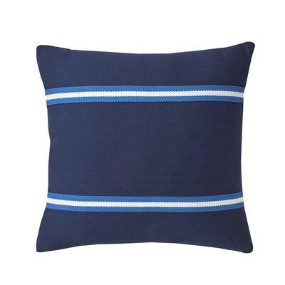 Dock Street Woven Tape Cotton Throw Pillow