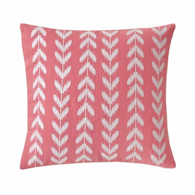 Coastal Embroidered Heart Cotton Throw Pillow