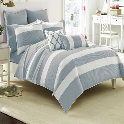 Breakwater Comforter Set Size: Twin, Color: Nautical Navy