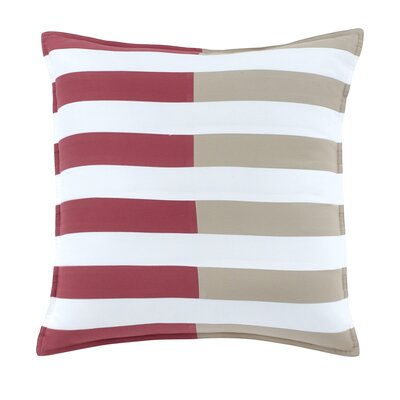Skipjack Chino 100% Cotton Throw Pillow Color: Charleston Red / Humus