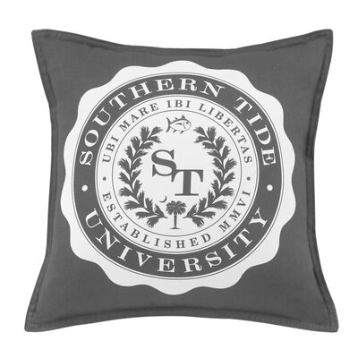 Skipjack Chino University 100% Cotton Throw Pillow Color: Steel Gray