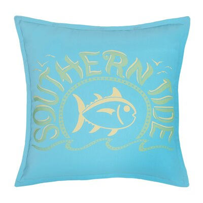 Skipjack Chino Swimming Skipjack 100% Cotton Throw Pillow Color: Island Blue