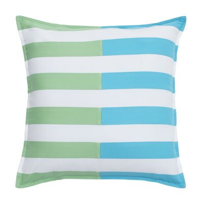 Skipjack Chino 100% Cotton Throw Pillow Color: Island Blue / Kiwi