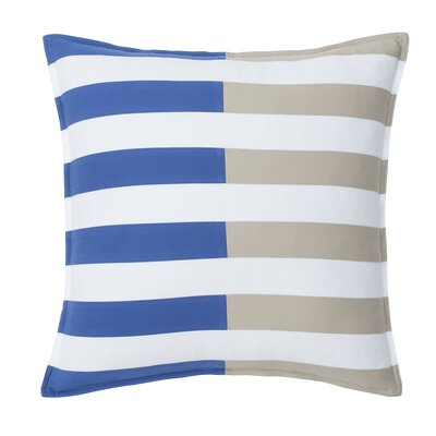 Skipjack Chino 100% Cotton Throw Pillow Color: Blue Cove / Humus
