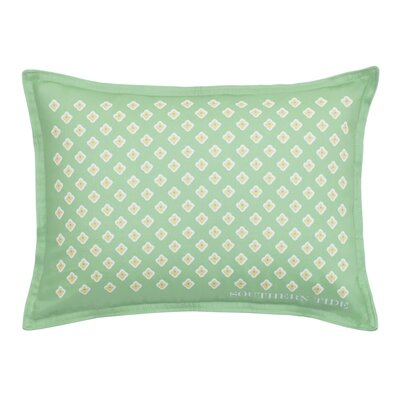 Skipjack Chino Breakfast Foulard 100% Cotton Lumbar Pillow Color: Kiwi