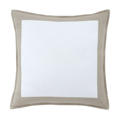 Skipjack Chino 100% Cotton Throw Pillow Color: Humus