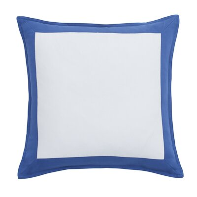 Skipjack Chino 100% Cotton Throw Pillow Color: Blue Cove