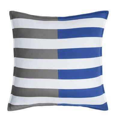 Skipjack Chino 100% Cotton Throw Pillow Color: Steel Gray / Blue Cove