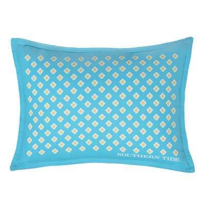 Skipjack Chino Breakfast Foulard 100% Cotton Lumbar Pillow Color: Island Blue