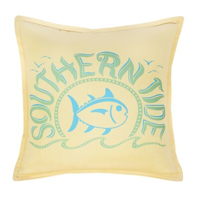 Skipjack Chino Swimming Skipjack 100% Cotton Throw Pillow Color: Pineapple