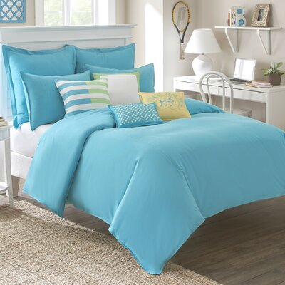 Skipjack Chino Comforter Color: Island Blue, Size: Full/Queen