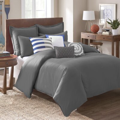 Skipjack Chino Comforter Color: Steel Gray, Size: Full/Queen