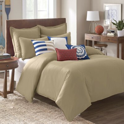 Skipjack Chino Comforter Color: Humus, Size: King
