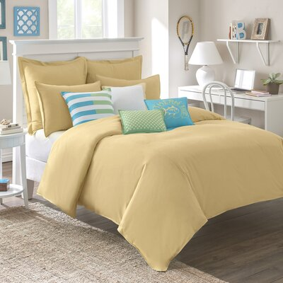 Skipjack Chino Comforter Color: Pineapple, Size: King