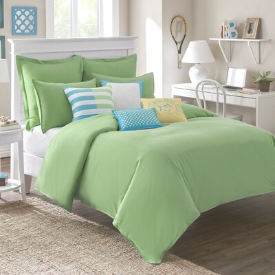 Skipjack Chino Comforter Size: Twin, Color: Kiwi