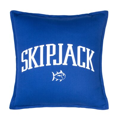 Americana Chino Skipjack 100% Cotton Throw Pillow