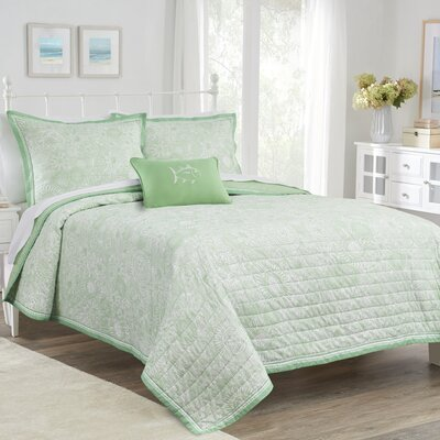 Seapine Quilt Color: Lime Green, Size: Twin