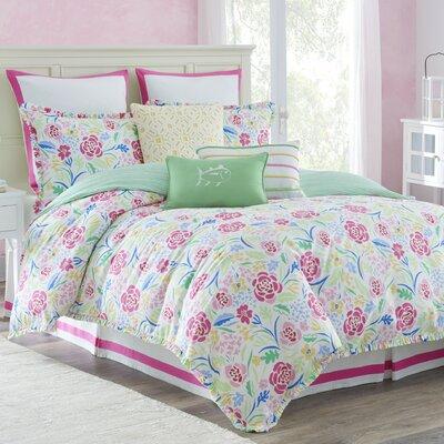 Kiawah Floral Reversible Comforter Set Size: King