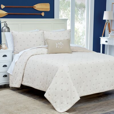 Skipjack Quilt Color: Stone, Size: Full/Queen