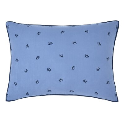 Skipjack Standard Sham Color: Navy