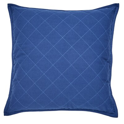 Yacht Club Square Quilted 100% Cotton Throw Pillow