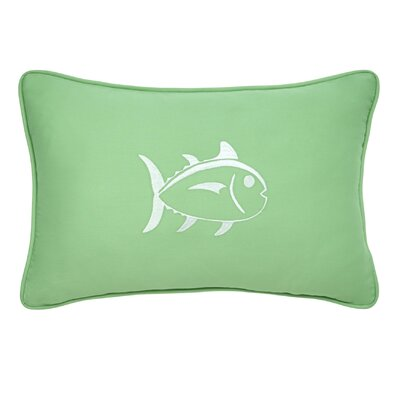 Skipjack Decorative Cotton Lumbar Pillow Color: Kiwi/White