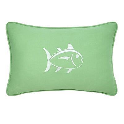 Skipjack Decorative Cotton Lumbar Pillow Color: Kiwi/White