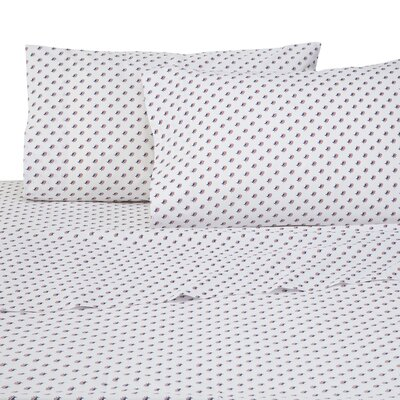 Americana Skipjack 4 Piece 200 Thread Count 100% Cotton Sheet Set Size: Queen