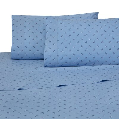 Shark Attack 4 Piece 200 Thread Count 100% Cotton Sheet Set Size: Twin XL