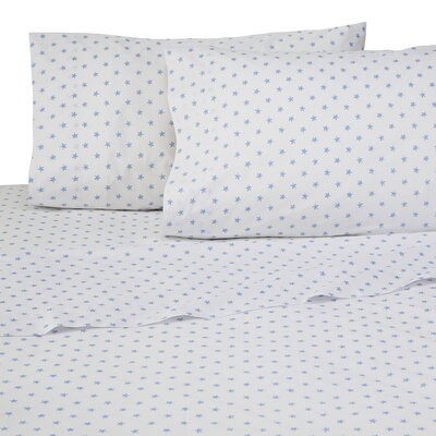 Sea Stars 4 Piece 200 Thread Count 100% Cotton Sheet Set Size: Twin XL