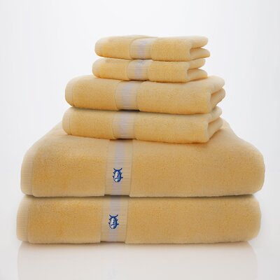 Skipjack Southern Tide 6 Piece Towel Set Color: Moonlight Yellow