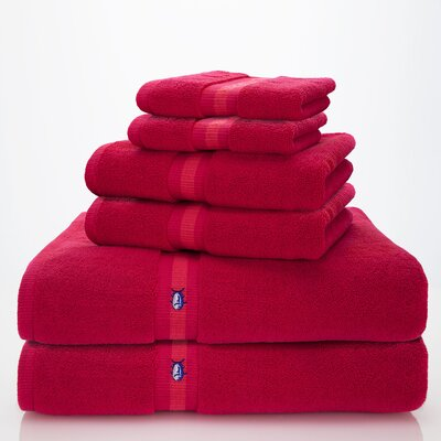 Skipjack Southern Tide 6 Piece Towel Set Color: Grenadine