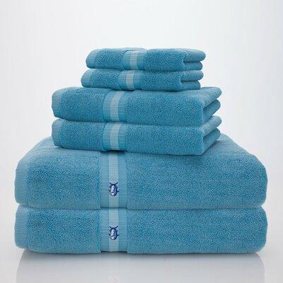 Skipjack Southern Tide 6 Piece Towel Set Color: Blue Topaz
