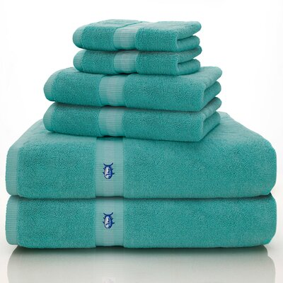 Skipjack Southern Tide 6 Piece Towel Set Color: Offshore Green