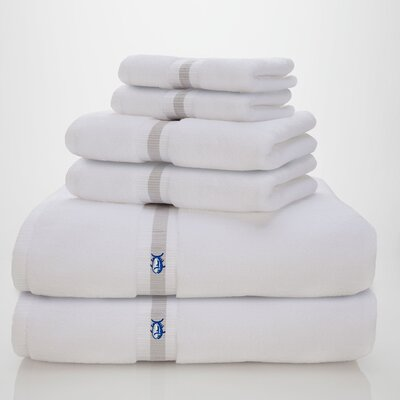 Skipjack Southern Tide 6 Piece Towel Set Color: Optical White