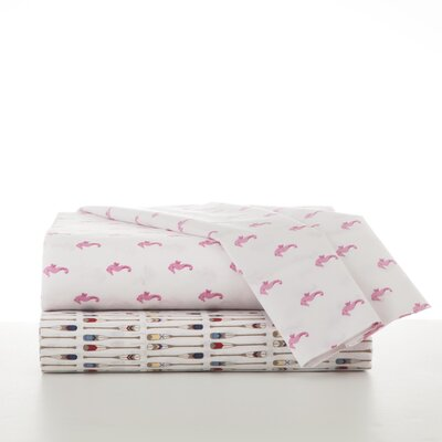 Seahorses 4 Piece Sheet Set Size: Full