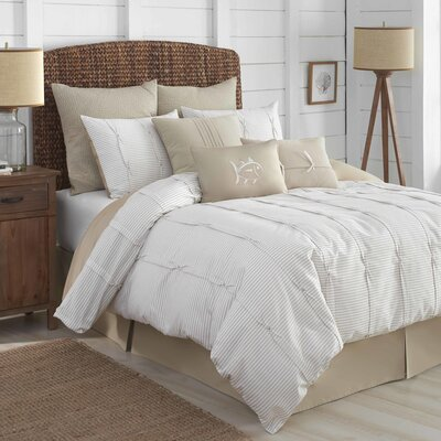 Seabrook 100% Cotton 4 Piece Reversible Comforter Set Size: King