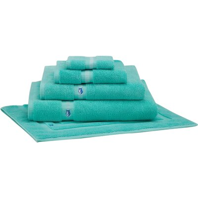 Ultimate Terry Bath Mat Color: Offshore Green