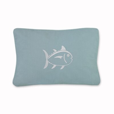 Tropical Retreat Embroidered Skipjack Cotton Lumbar Pillow