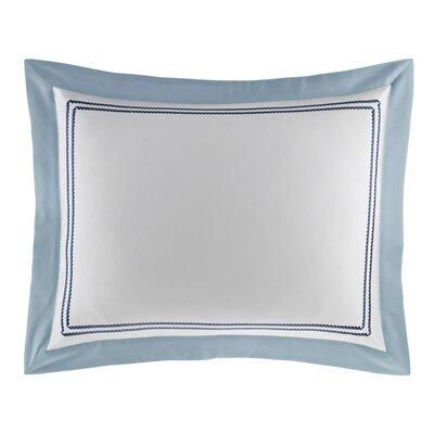 Maritime Cotton Sham Size: Standard, Color: Blue