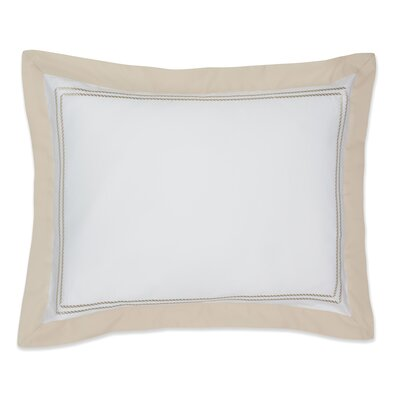 Maritime Cotton Sham Size: Standard, Color: Sand