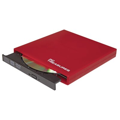 Digital Treasures External DVD and RW Drive - Color: Red at Sears.com