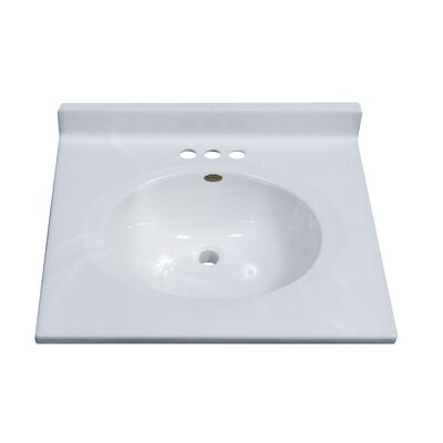 Classic Center Oval Bowl 25 Single Bathroom Vanity Top